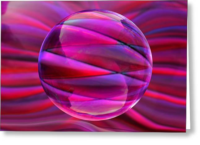 Pinking Sphere Greeting Card by Robin Moline