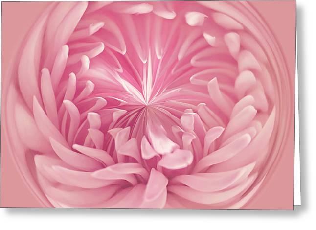 Pinkness Greeting Card by Kim Hojnacki