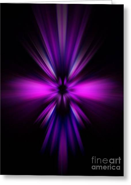 Greeting Card featuring the digital art Pinks by Trena Mara