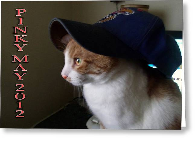 Pinky Loves Hats Greeting Card