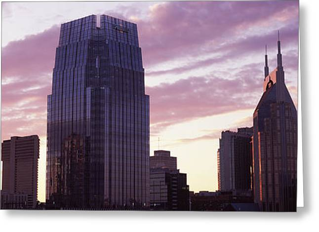 Pinnacle At Symphony Place Greeting Card by Panoramic Images