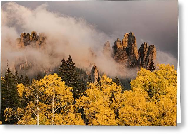 Pinnacles At Owl Creek Pass At Sunset Greeting Card