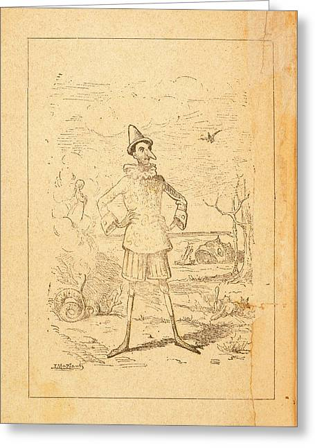 Pinocchio Greeting Card by British Library