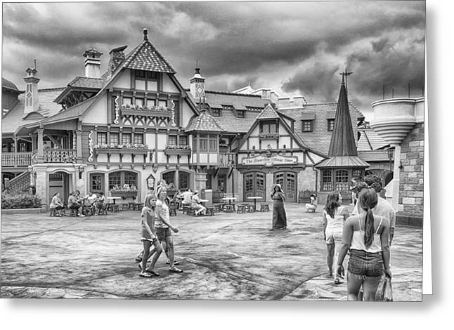 Greeting Card featuring the photograph Pinocchio's Village Haus by Howard Salmon