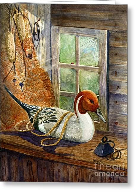 Pintail Duck Decoy Greeting Card by Marilyn Smith