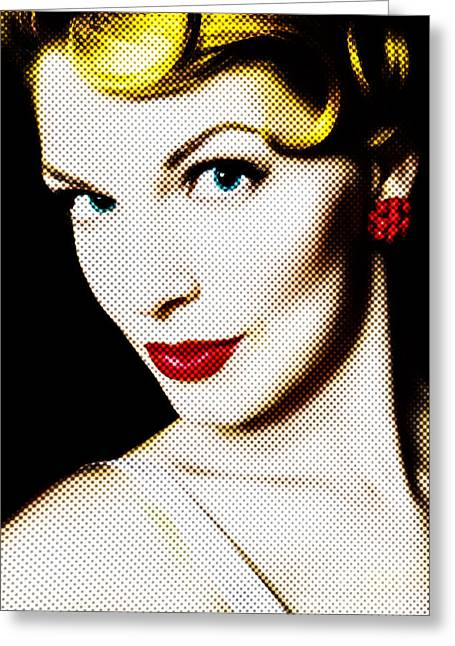 Pinup Girl Greeting Card by Diane Diederich