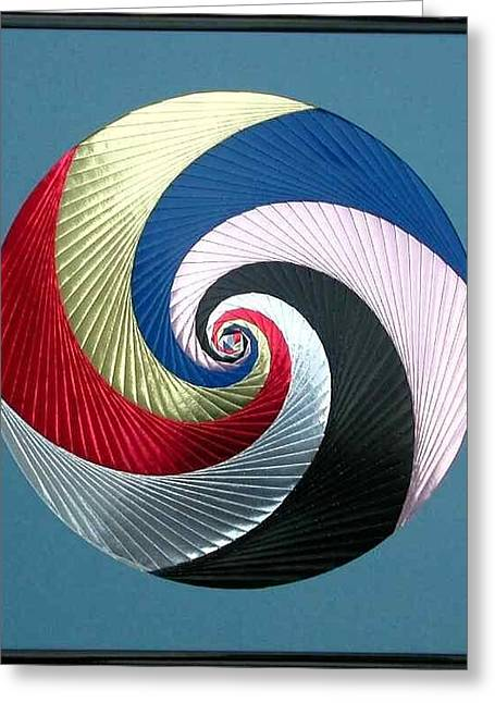 Greeting Card featuring the mixed media Pinwheel by Ron Davidson