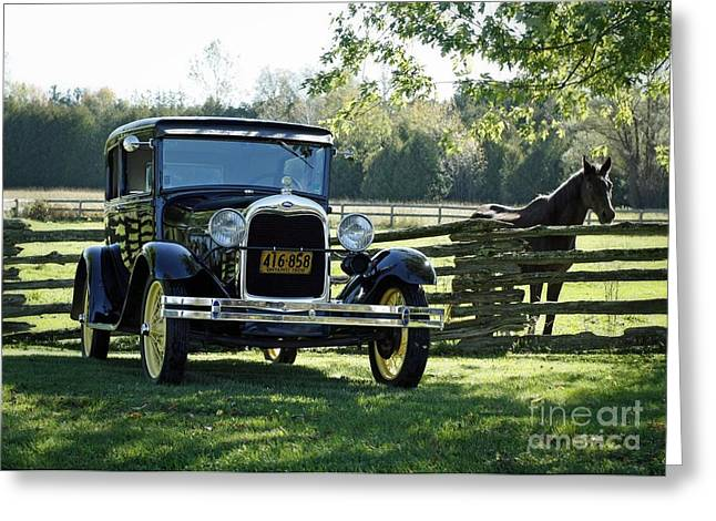 Pioneer Modes Of Transportation From The Early 1900's Greeting Card by Inspired Nature Photography Fine Art Photography