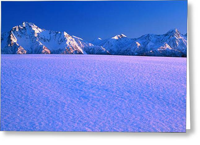 Pioneer Pk Chugach Mts Ak Usa Greeting Card by Panoramic Images
