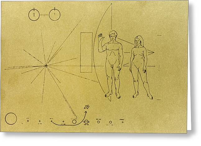 Pioneer Plaque, 1972 Greeting Card