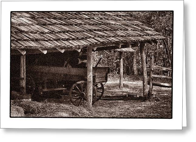 Pioneer Shed Calotype Greeting Card