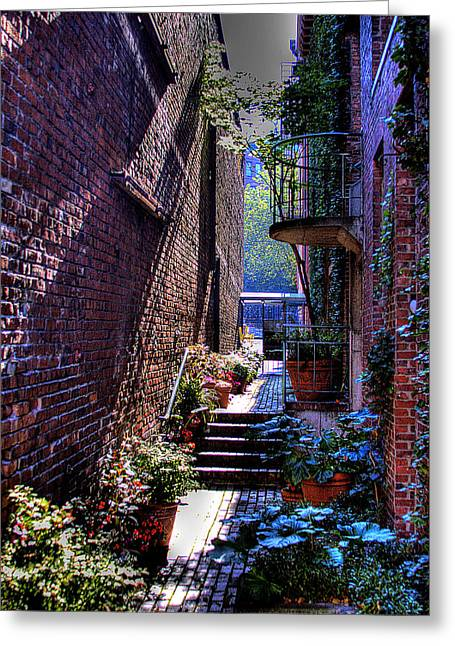 Pioneer Square Garden Pathway Greeting Card