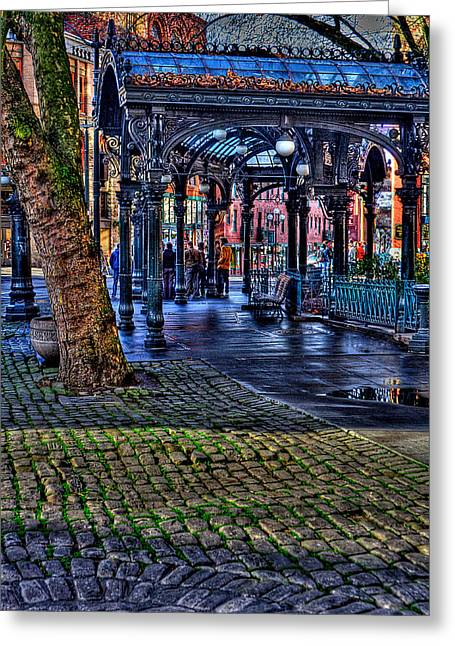 Pioneer Square In Seattle Greeting Card by David Patterson