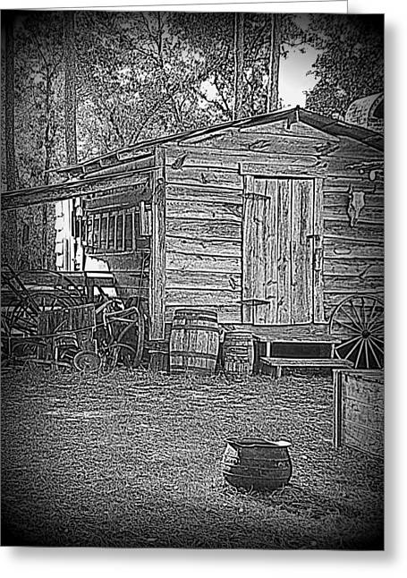 Pioneer Tool Shed Greeting Card by Sheri McLeroy