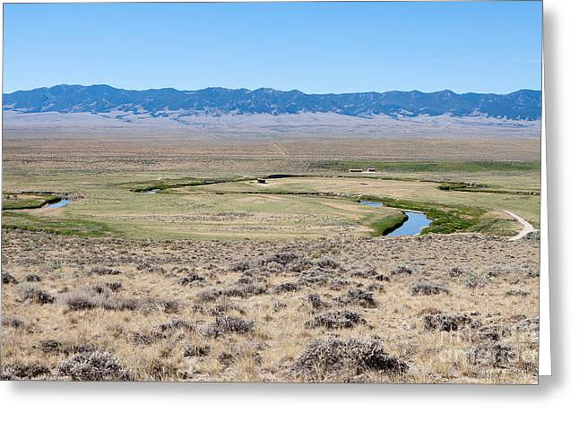 Pioneer Trail And Sweetwater River In Wyoming Greeting Card