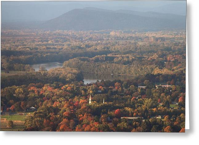 Pioneer Valley Fall Foliage From Holyoke Range Greeting Card