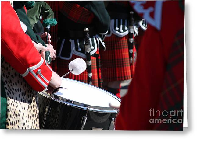 Pipe And Drums Greeting Card