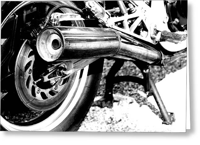 Pipe Black And White Greeting Card by David S Reynolds