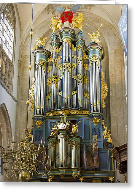 Pipe Organ In Breda Grote Kerk Greeting Card