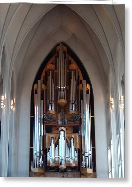 Pipe Organ Greeting Card by Kay Gilley