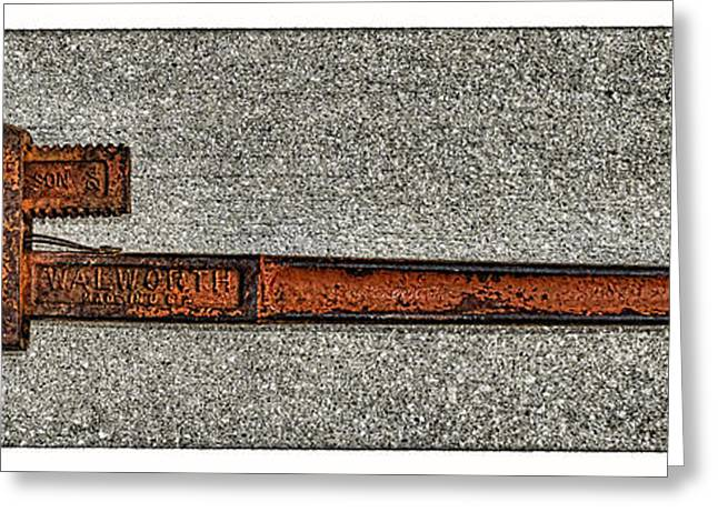 Pipe Wrench Made In U S A Greeting Card