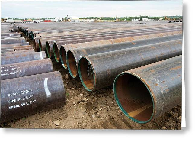 Pipeline Construction Work Greeting Card by Ashley Cooper