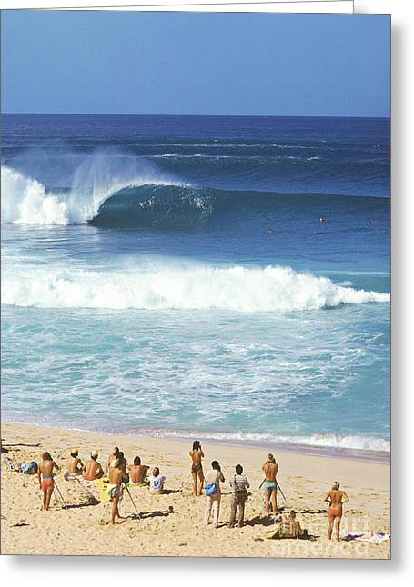 Pipeline Masters  Hawaii  1977 Greeting Card by Lance Trout