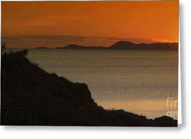 Piper And Skye Sunset Greeting Card by Colin Woods