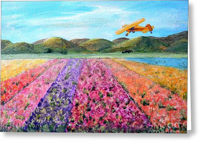 Piper Cub Sunday Greeting Card by Terry Taylor