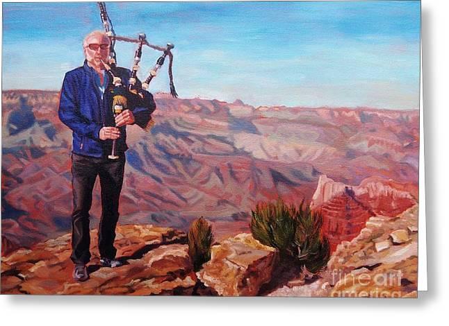 Piping At The Grand Canyon Greeting Card