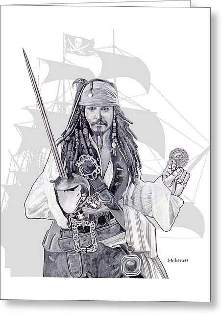 Piracy On The High Sea Greeting Card