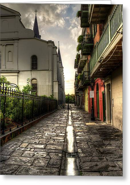 Pirate Alley Greeting Card by Greg and Chrystal Mimbs