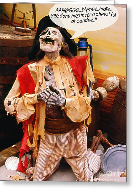Greeting Card featuring the photograph Pirate For Halloween by Gary Brandes