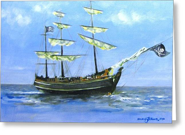 Pirate Greeting Card by Howard Stroman