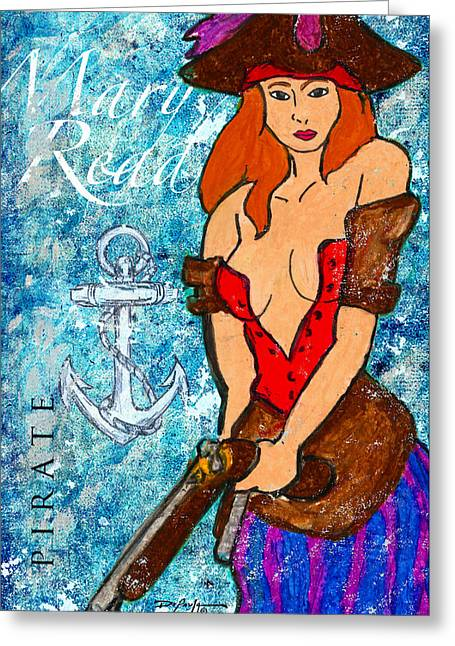 Pirate Mary Read Greeting Card by William Depaula