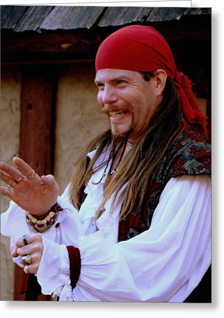 Pirate Shantyman Greeting Card by Rodney Lee Williams