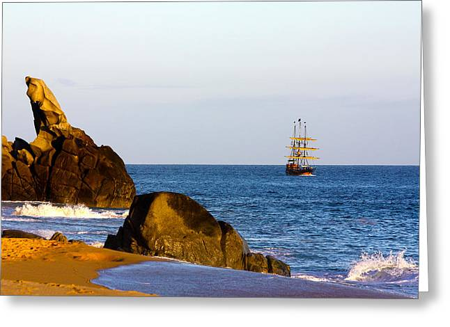 Pirate Ship In Cabo Greeting Card