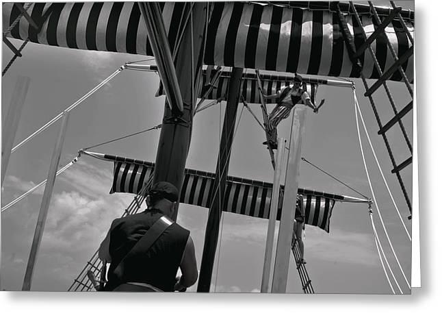 Pirate Ship Greeting Card