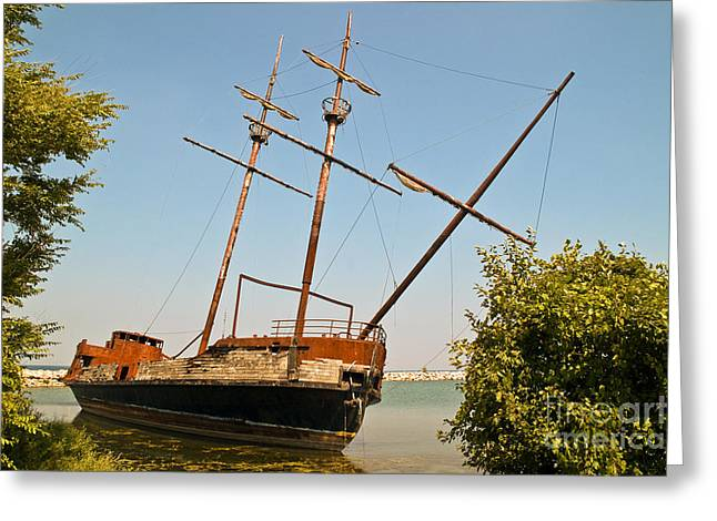 Greeting Card featuring the photograph Pirate Ship Or Sailing Ship by Sue Smith