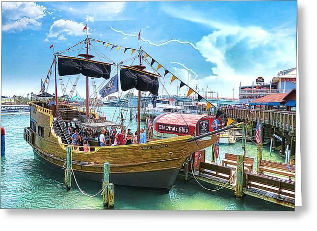 Pirate Ship Greeting Card by Stephen Warren