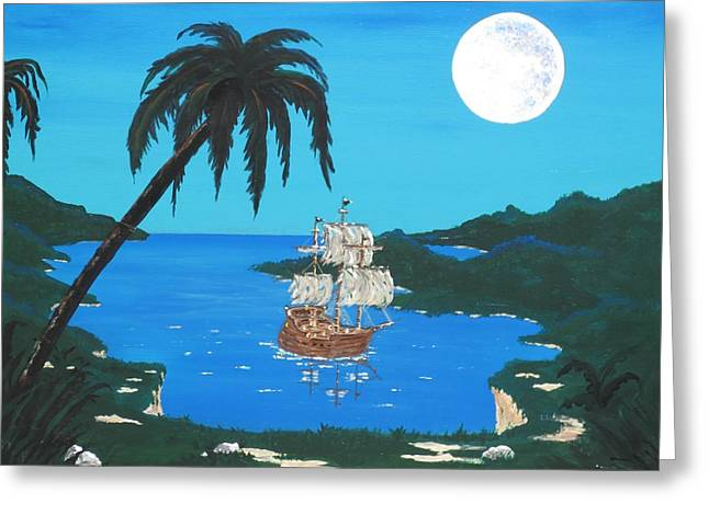 Pirate's Cove Greeting Card by Don Miller