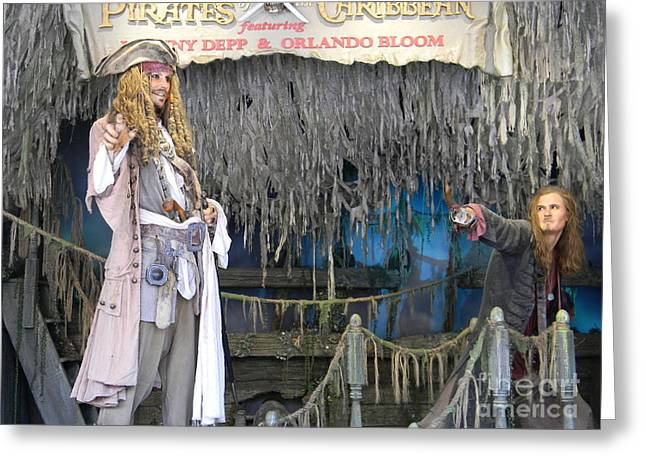 Pirates Of The Caribbean Greeting Card by Spirit Baker