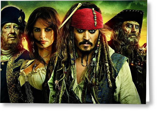 Pirates Of The Caribbean Stranger Tides Greeting Card by Movie Poster Prints