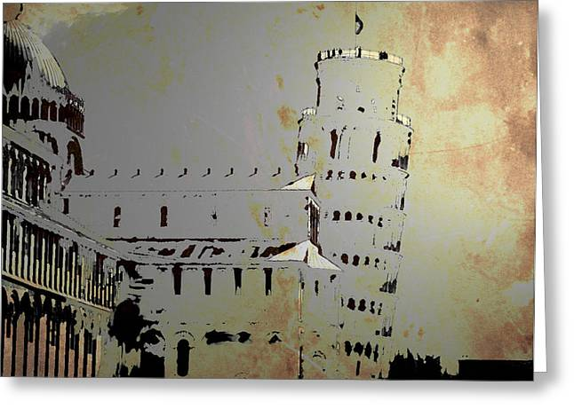 Greeting Card featuring the digital art Pisa Italy 1 by Brian Reaves