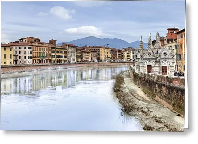 Pisa Greeting Card by Joana Kruse