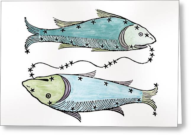 Pisces An Illustration Greeting Card by Italian School