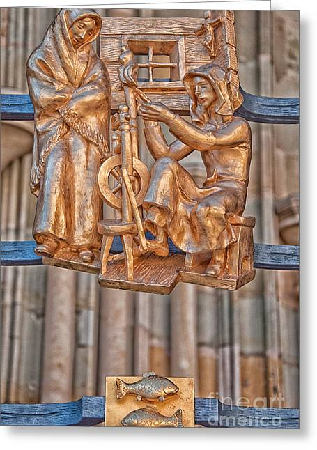 Pisces Zodiac Sign - St Vitus Cathedral - Prague Greeting Card by Ian Monk