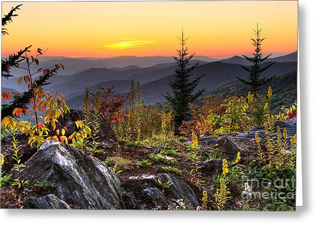 Pisgah Sunset - Blue Ridge Parkway Greeting Card