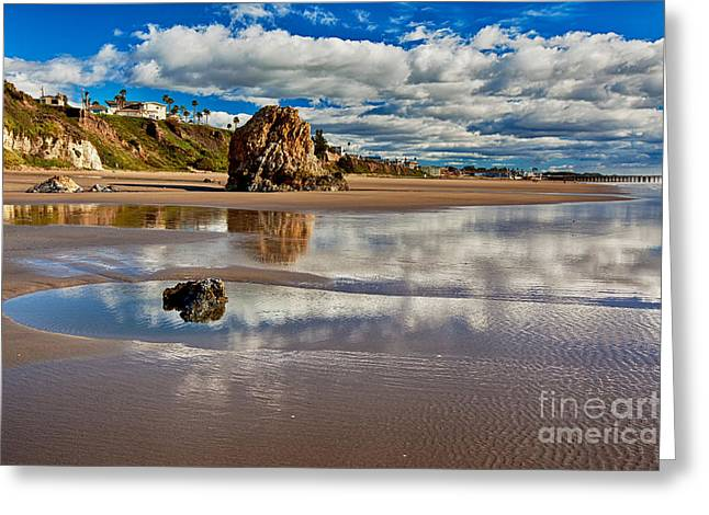 Pismo Beach At Low Tide Greeting Card