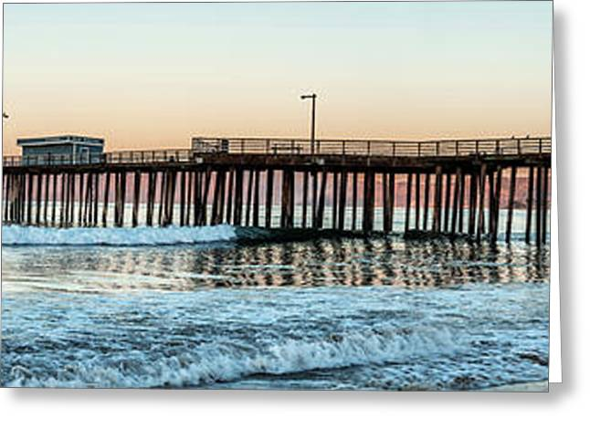 Pismo Beach Pier At Sunrise, San Luis Greeting Card